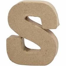 Bokstäver av Papier-Maché S 10 cm 1 st