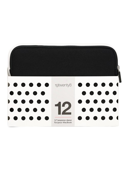 "12"" NEOPRENE 19TWENTY8 SLEEVE BLACK"