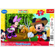 "Mickey Mouse "" In the countryside"" 1 2 3 Rampussel, 15 bitar, Trefl"