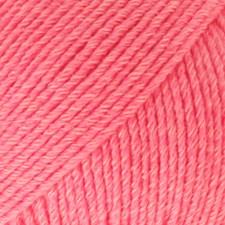 Drops Cotton Merino Uni Colour Garn Ullmix 50g Coral 13