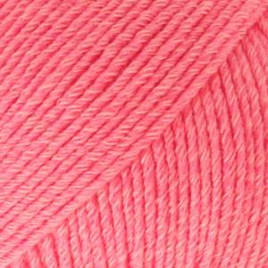 Drops, Cotton Merino Uni Colour, Garn, Ullmiks, 50 g, Korall 13