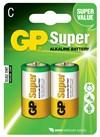 Batteri alkalisk C/LR14 1,5v 2-pakk