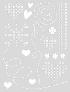 Schablon Medium 18,5x24,5 cm Hjärta