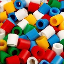 Rørperler, str. 10x10 mm, hullstr. 5,5 mm, 3200 ass., standard colors