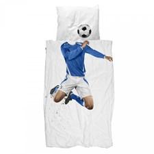 Bäddset Fotbollspelare, 150 x 210, Blå, Snurk
