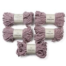 Adlibris Chunky Wool Garn 200g Dusty Purple A008 5-pack