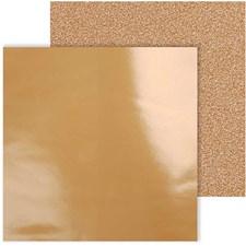 Designpapir, ark 30,5x30,5 cm, 120+128 g, 2 ass. ark, kobber