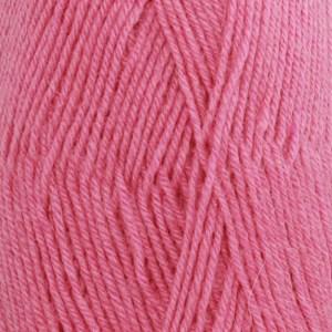 Drops Fabel Uni Colour Garn Ullmix 50g Rosa (102)