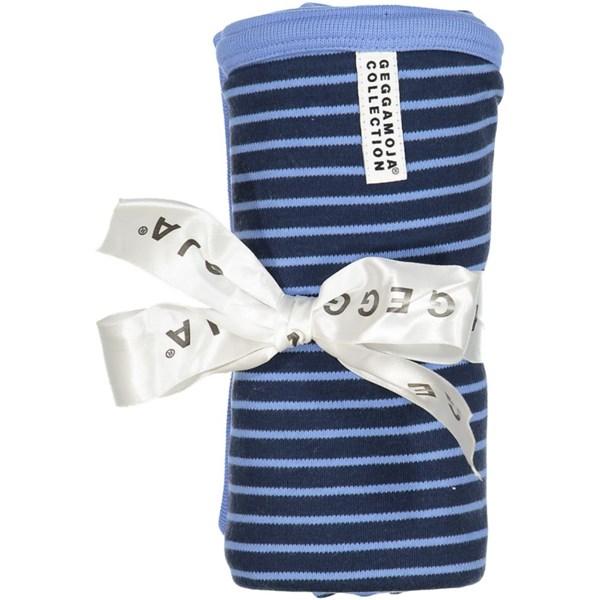 Babyfilt  Marin ljusblå  Geggamoja - barnplädar & kuddar