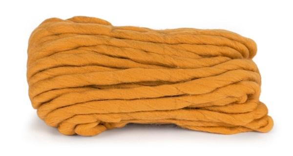 Knit At Home Chunky Wool Ullgarn 200 g ockra 942