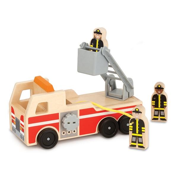 Brandbil i trä  Melissa & Doug - leksaksbilar & fordon