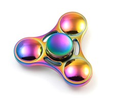 Fidget Spinner, Rainbow Zinc Alloy Triangle