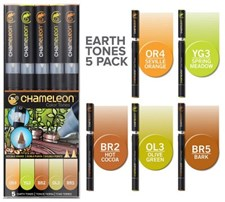 Chameleon 5-pack Pen Marker Earth Tones