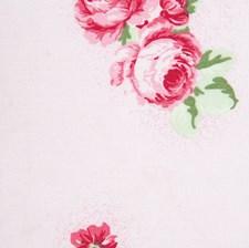 Bomullstyg Rosor 50x160 cm Rosa