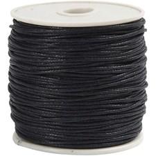 Puuvillanyöri, paksuus 1 mm, musta, 40m