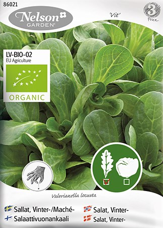 Sallat, Vinter- / Mache, Vit, Organic