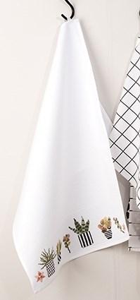 Kirjonta keittiöpyyhe mehikasveilla sarja 50 x 75 cm
