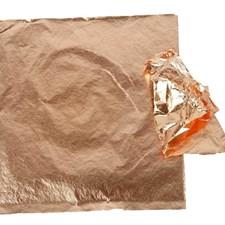 Bladmetall, ark 16x16 cm, 25 ark, kobber