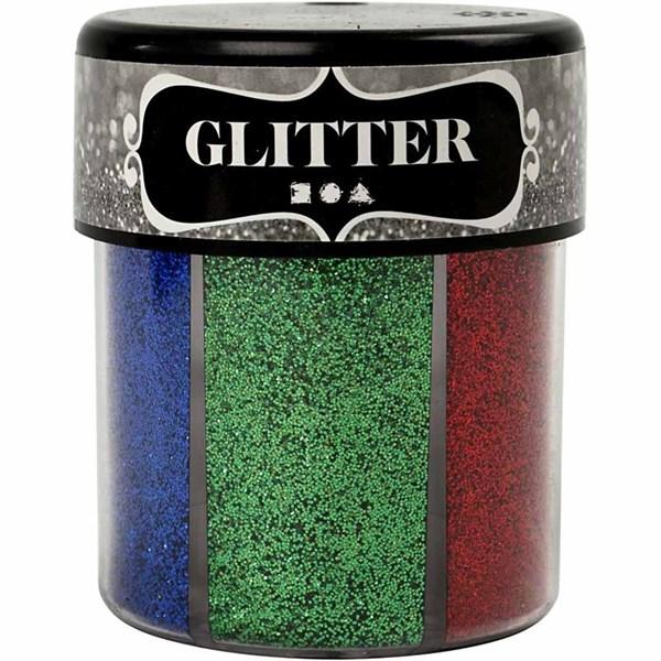 Glitter, ass. farger, 6x13g