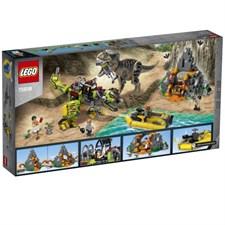 Strid mellan T. rex och dinosaurierobot, LEGO Jurassic World (75938)