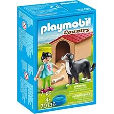 Hund med hundkoja, Playmobil (70136)