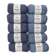Adlibris Bomull 8/4 Garn 100g Double Denim 10-pack