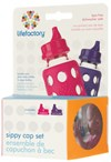 Drickpip 2-pack, Raspberry & Royal purple, Lifefactory
