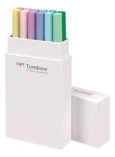 Brush Pen Ritpennor Tombow ABT Dual Brush Pastell 12-pack