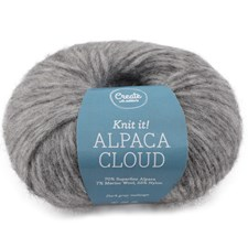 Adlibris Alpaca Cloud, 50 g, Dark Grey Melange A274