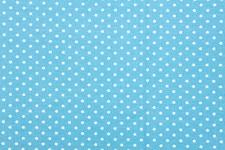 Bomullstyg Stjärna 50x160 cm Ljusblå/Vit