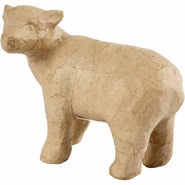 Isbjörn av Papier-Maché 12 cm 1 st - papier maché