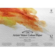 Artists' akvarellblock fin gräng Spiralblock  Winsor & Newton