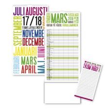 Väggkalender 2017-2018 Burde Familjekalender TrendArt FSC Mix