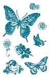Stempel, silikon, Sommerfugler, 10 x 18,5 cm