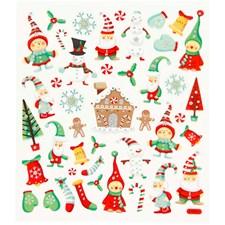 Klistermärken Glitter Jul 1 Ark