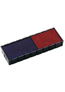 Leimasinvärikasetti COLOP E12 punainen/sininen (2 kpl)