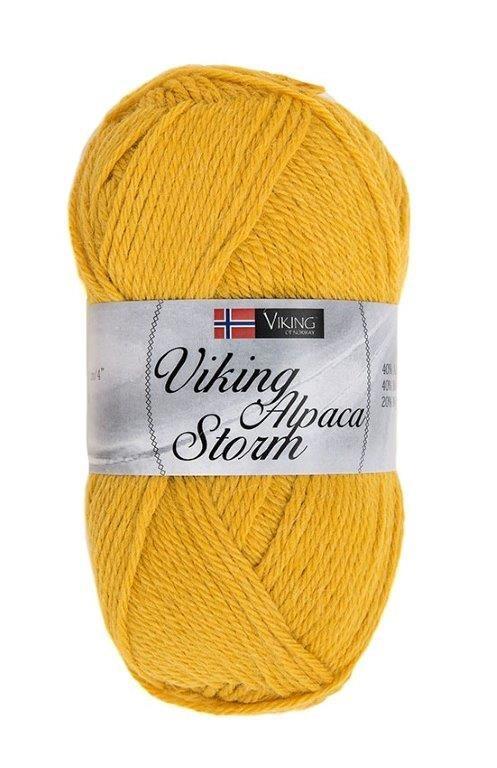 Viking of Norway Alpaca Storm Garn Alpackamix 50g Gul 545