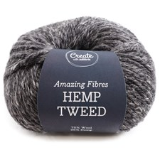 Adlibris, Hemp Tweed, 50 g, Graphite Grey Melange A491