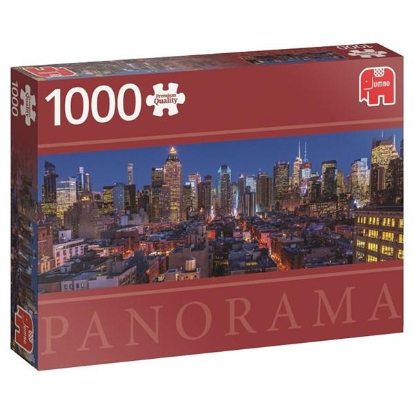 New York, Panorama-puslespill, 1000 brikker, Jumbo