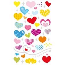 Klistermärken Hjärta Mix 1 Ark