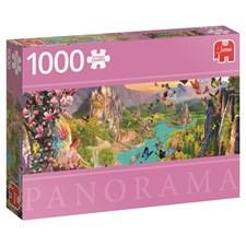 Fairy Land, Panorama-puslespill, 1000 brikker, Jumbo
