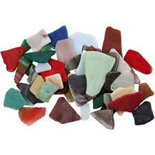 Mosaikk, str. 15-60 mm, tykkelse 5 mm, ass. Farger, 2kg