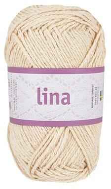 Lina 50g Lin- och bomullsmix Sand beige (16203)