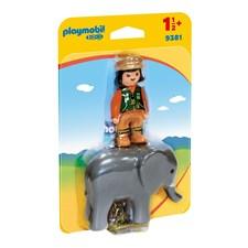 Djurskötare med elefant, Playmobil 1.2.3 (9381)