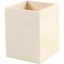 Blyantholder, H: 9,5 cm, str. 7,5x7,5 cm, 1 stk., kryssfiner