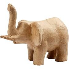 Elefant av Papier-Maché 15 cm 1 st