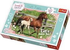 Häst med föl, Pussel 160 bitar, Trefl