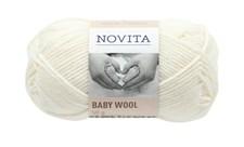 Novita Baby Wool Ullgarn 50 g vit 011
