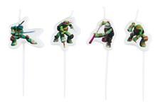 Ninja Turtles Kakkukynttilä 4 kpl