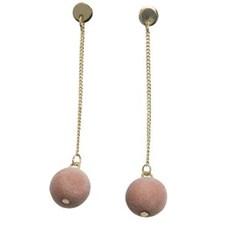Örhängen, Sammetsboll, Pink